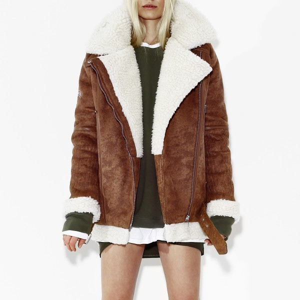 SHEARLING JACKET CAMEL WOMEN