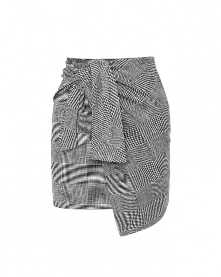 GHOST SKIRT CHECKED