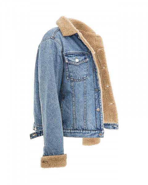 ALICE TEDDY JACKET DENIM