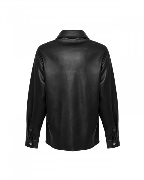 CAROUSEL LEATHER OVERSHIRT