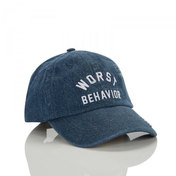 WRSTBHVR CURVED CAP DENIM