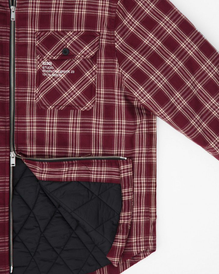 HENRY OVERSHIRT RED CHECKED MEN