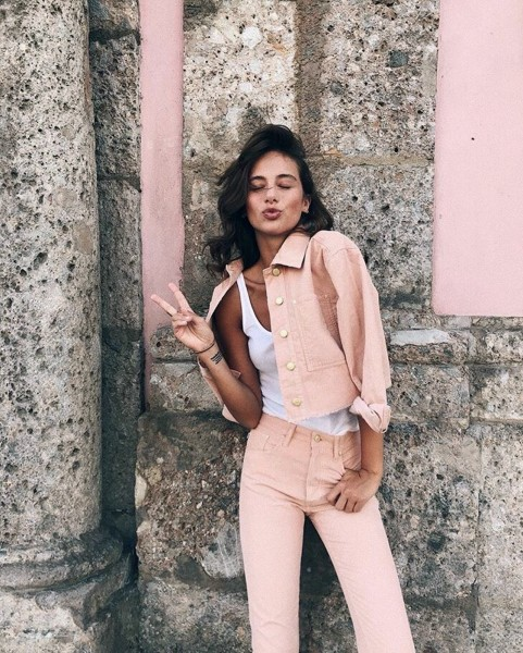 ROSE DUST PANTS ROSÉ WOMEN