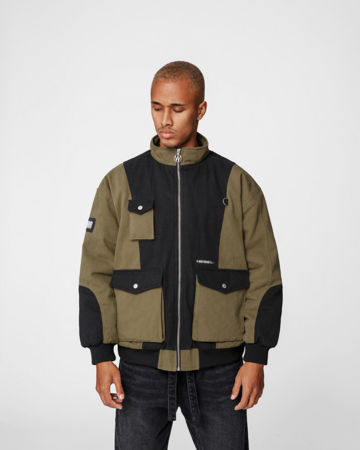 NATE BOMBERJACKET GREEN & BLACK MEN