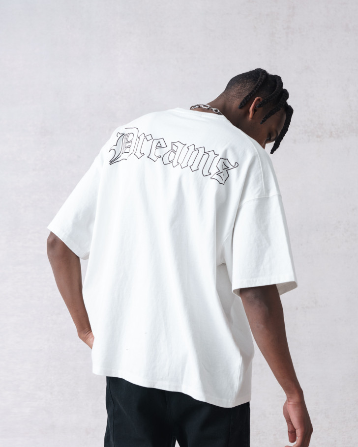 CHASE T-SHIRT OFFWHITE WASHED