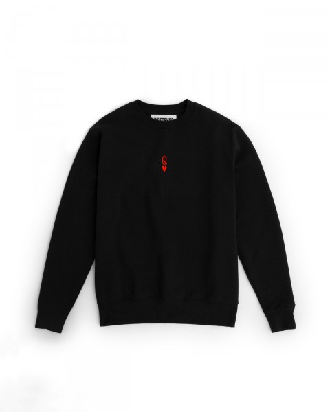 Q-HEART SWEATER BLACK WOMEN