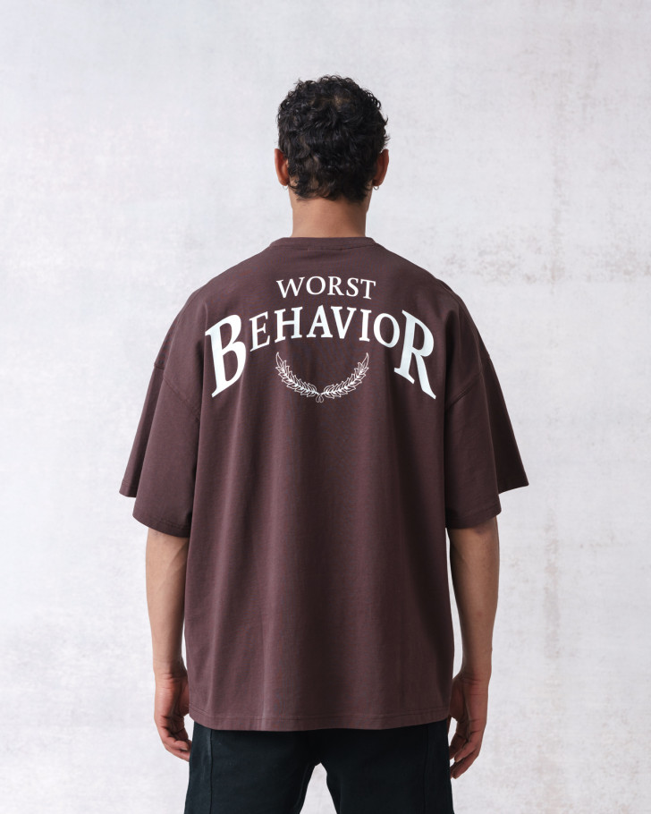 101 T-SHIRT CHOC WASHED