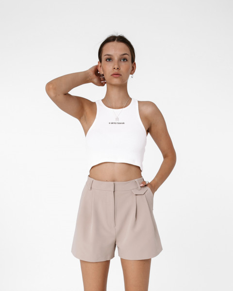 LUXE SHORTS BEIGE WOMEN