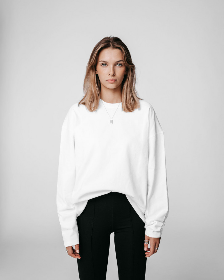 HWB LONGSLEEVE OFFWHITE WASHED WOMEN