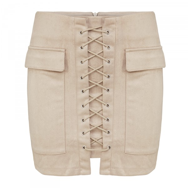 CASSIDY SKIRT LIGHT CAMEL WOMEN