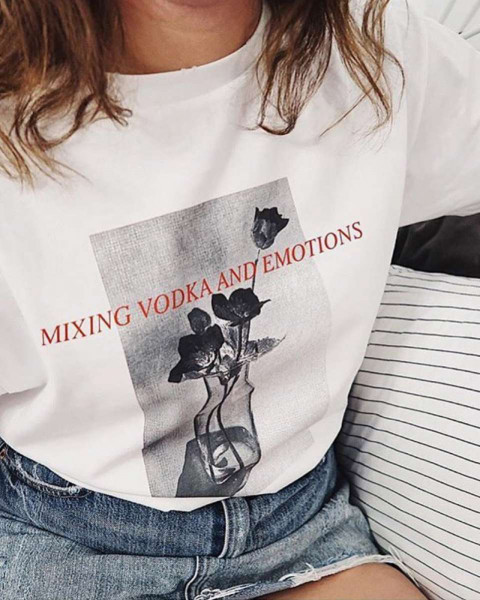VODKA & EMOTIONS SHIRT WHITE