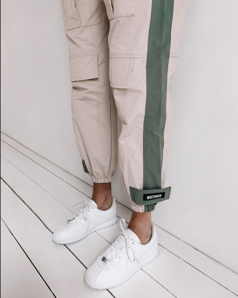 GIA PANTS WHITE/GREEN WOMEN