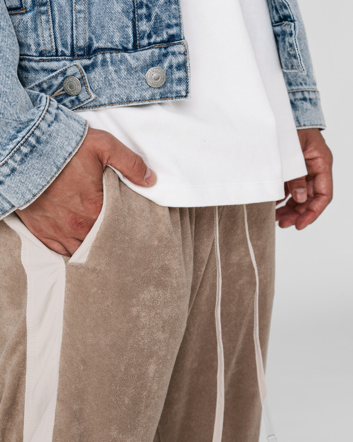 LOUNGIN TRACKPANTS FROTTEE BEIGE MEN