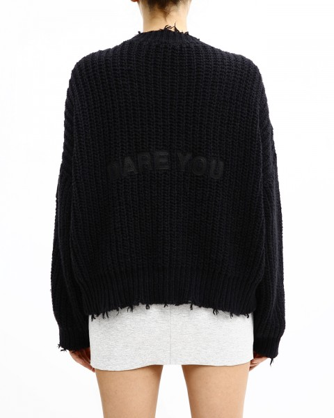 DARE YOU SWEATER BLACK WOMEN
