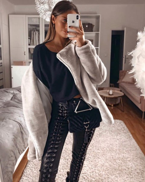 STONES PANTS BLACK WOMEN