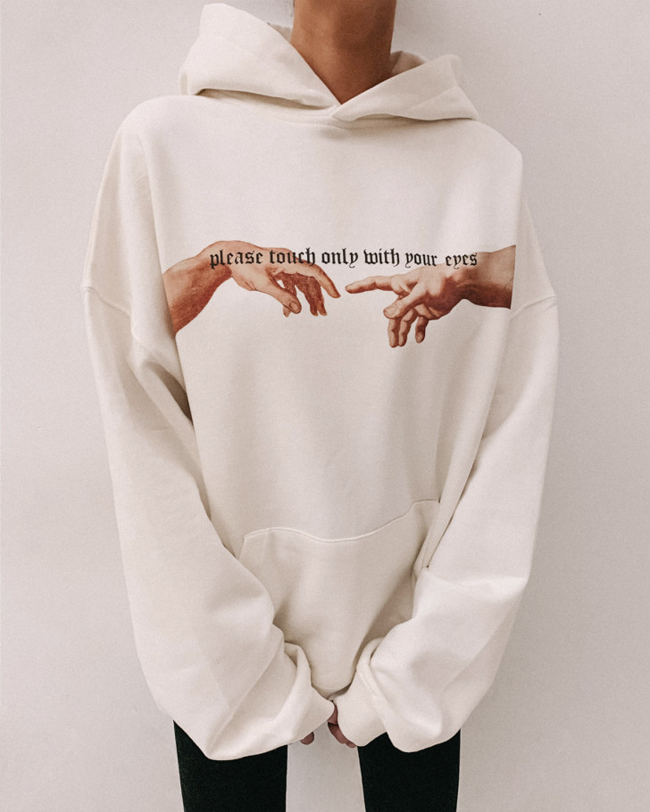 ONLY HOODIE OFF WHITE WOMEN