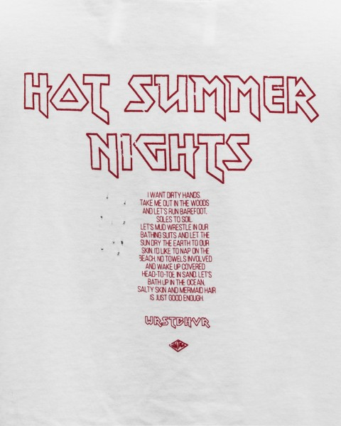 HOT SUMMER NIGHTS TEE WHITE WOMEN