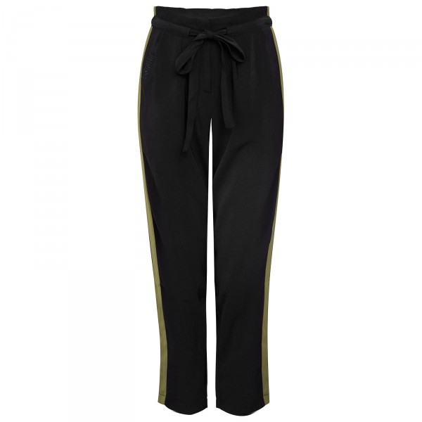 MARVIN PANTS BLACK/KHAKI WOMEN