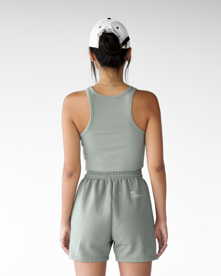 LIV TOP SILVERED OLIVE WOMEN