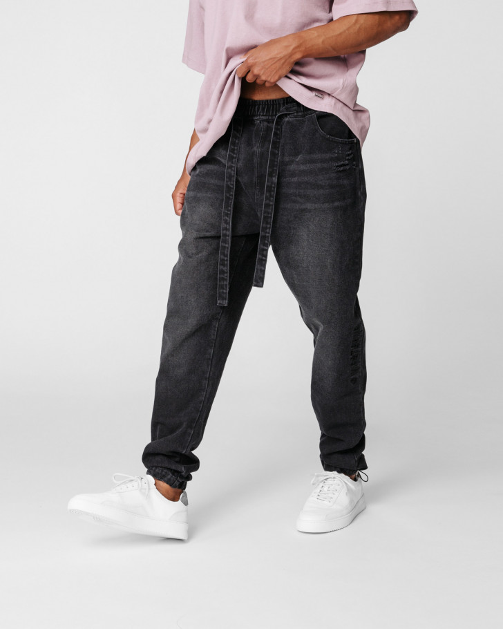 PAXTON PANTS BLACK WASHED MEN