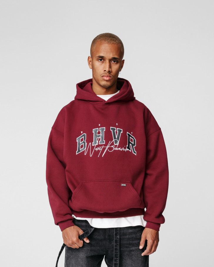 CRUSH HOODIE BURGUNDY MEN
