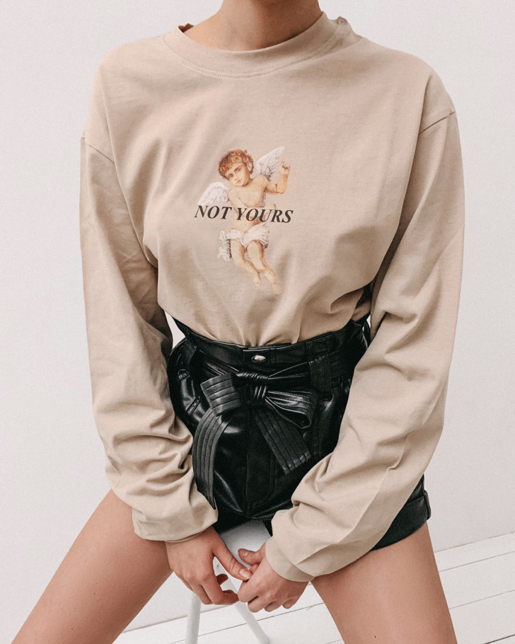 NOT YOURS LONGSLEEVE SAND