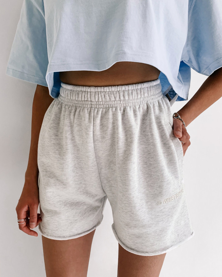 JUNE SHORTS GREY MELANGE WOMEN