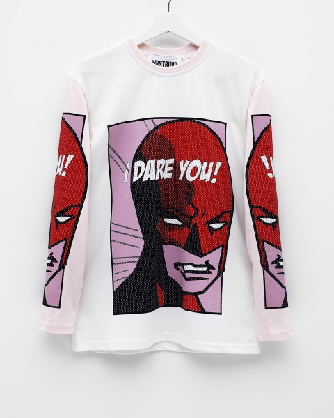 DAREDEVIL LONGSLEEVE ROSE/WHITE WOMEN