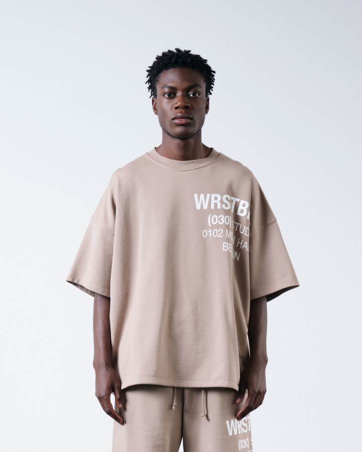 NIO SWEATER LIGHT TAUPE WASHED
