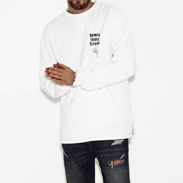 HOMIE LONGSLEEVE WHITE MEN