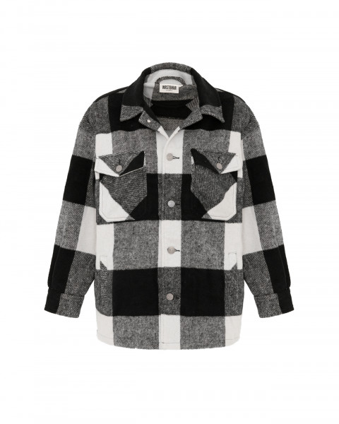 GENTLE OVERSHIRT CHECKED BLACK WOMEN