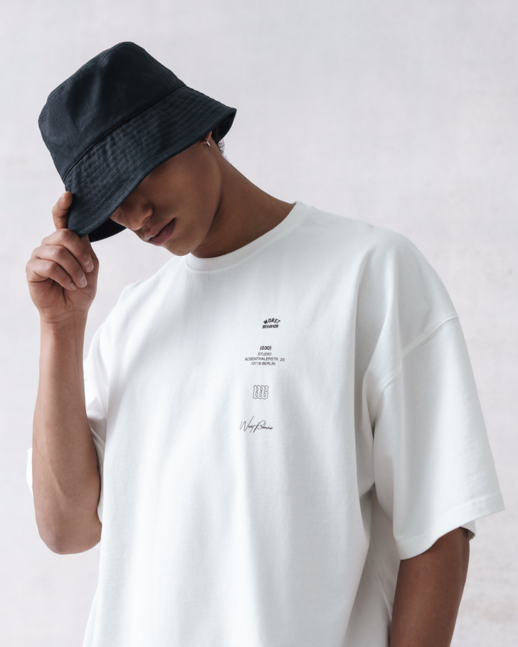 GOLDEN CUT T-SHIRT OFFWHITE WASHED